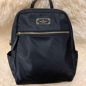 Kate Spade Black Nylon Mini Backpack